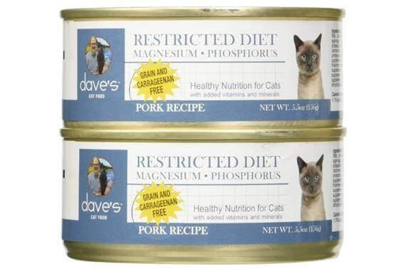 Dave's Pet Food Restricted Diet Magnesium & Phosphorus Grain-Free Pork Recipe Canned