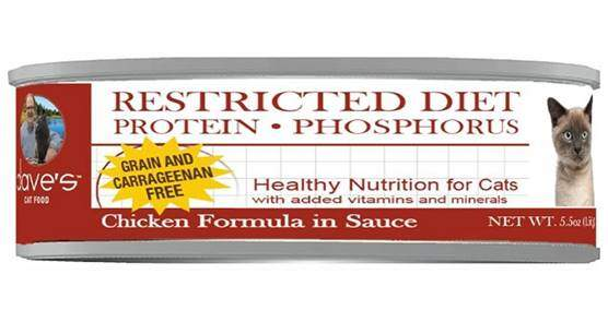 Dave's Pet Food Restricted Diet Phosphorus Chicken Formula in Sauce Grain-Free Canned Cat