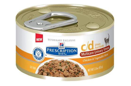 Hill's Pet Nutrition C D Multicare Urinary Care Chicken & Vegetable Stew Canned Cat Food