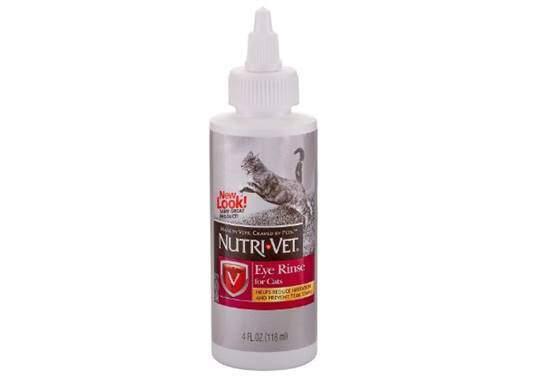 Nutri-Vet Eye Rinse Liquid for Cats