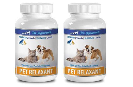 Dog Anxiety Relief Natural - Natural Relaxant for Cats and Dogs