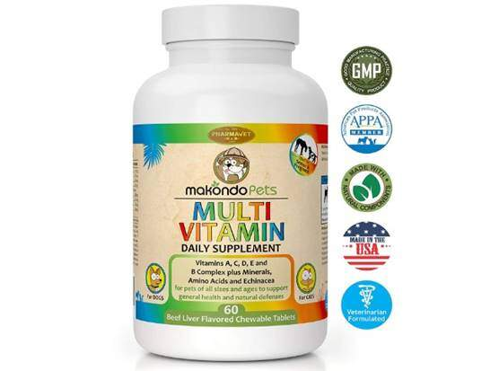 Makondo Pets Multivitamin for Dogs and Cats (60 Tablets)