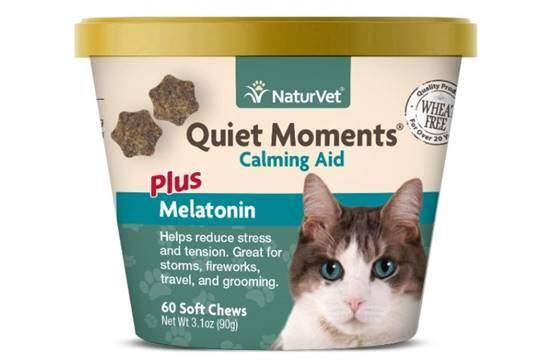 NaturVet –Quiet Moments Calming Aid for Cats Plus Melatonin