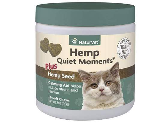 NaturVet Hemp Quiet Moments Plus Hemp Seed Soft Chews for Cats