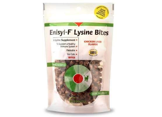 Vetoquinol Enisyl-F Lysine Bites L-Lysine Chews for Cats & Kittens - Chicken Liver-Flavor