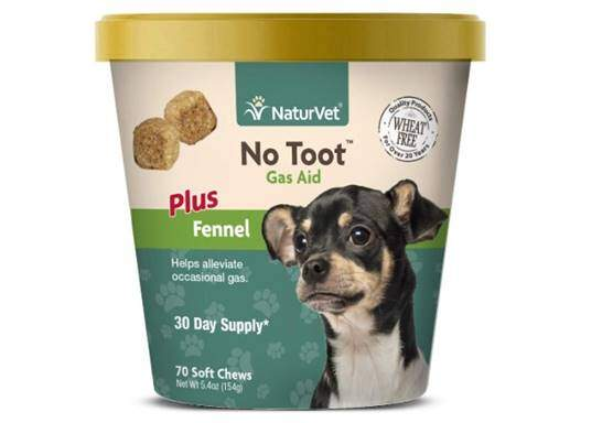 NaturVet – No Toot Gas Aid For Dogs Plus Fennel