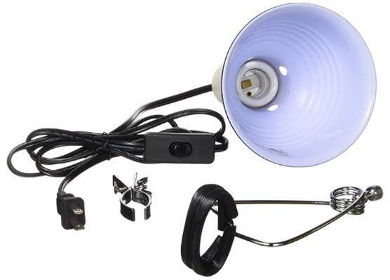 Fluker's 27002 Repta-Clamp Lamp with Switch for Reptiles,