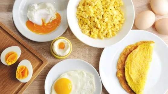 Hard-boiled, scramble, or raw eggs
