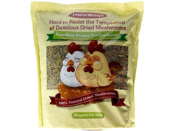 Hatortempt 5 lbs Non-GMO Dried Mealworms-High-Protein
