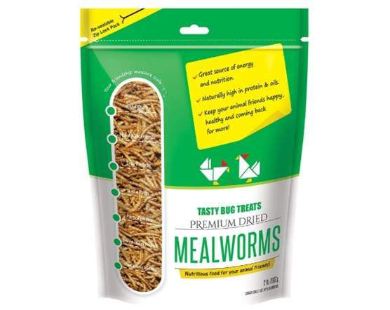 Mealworms - Premium Dried Mealworms (2 lb bag) byTasty Bug Treats
