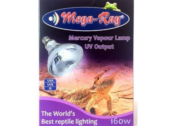 Mega-Ray Mercury Vapor Bulb - 160 Watts