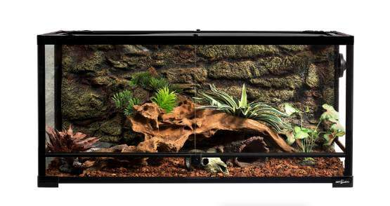 REPTI ZOO Reptile Glass Terrarium,Double Hinge Door