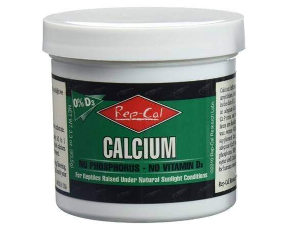 Rep-Cal SRP00200 Phosphorous-Free Calcium Ultrafine Powder Reptile Amphibian Supplement with Vitamin D3