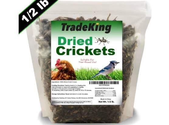 TradeKing Natural Dried Crickets