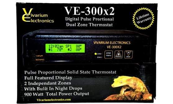 Vivarium Electronics VE-300X2 Thermostat (Reptile Basics)