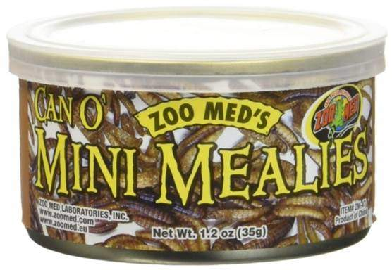 Zoo Med 2 Pack of Can O Mini Mealies Pet Food