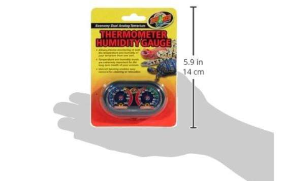 Zoo Med Dual Terrarium Analog Thermometer and Humidity Gauge – Economy