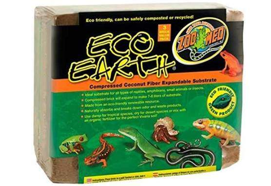 Zoo Med Eco Earth Compressed Coconut Fiber Substrate