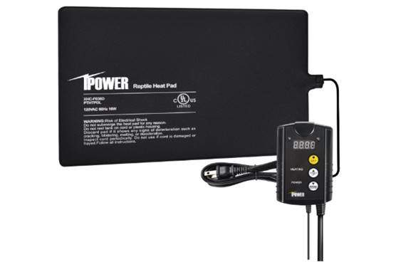 iPower 8x12 Under Tank Heat pad and Digital Thermostat Combo for reptiles