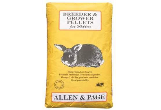 Allen & Page Rabbit Breeder Grower Pellets Complete Dry, 20 kg