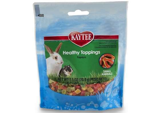 Kaytee Fiesta Healthy Toppings Papaya Treat for Small Animals
