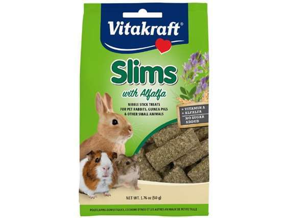 Vitakraft Slims with Alfalfa Rabbit, Guinea Pig & Small Animal Nibble Stick Treat