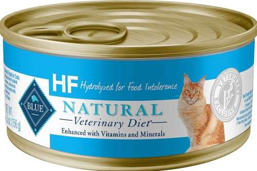 7. BLUE Natural Veterinary Diet HF Hydrolyzed for Food Intolerance Wet Cat Food