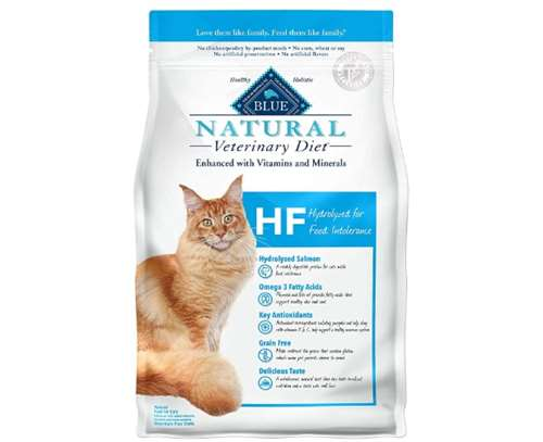 Blue Buffalo Natural Veterinary Diet HF Hydrolyzed for Food Intolerance Dry Cat Food