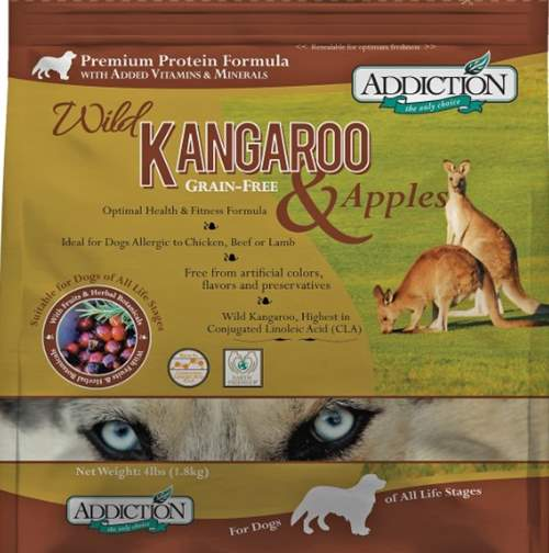 Addiction Grain Free Dry Dog Food Formulas Kangaroo & Apple