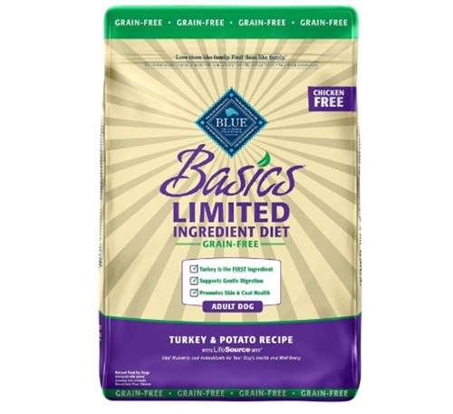 Blue Buffalo Basics Limited Ingredient Diet, Grain-Free Formula Turkey & Potato Recipe Adult Dry Dog Food