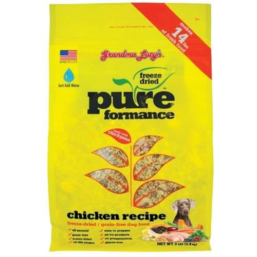 Grandma Lucy's PUREformance Dog Food, Grain Free and Freeze-Dried