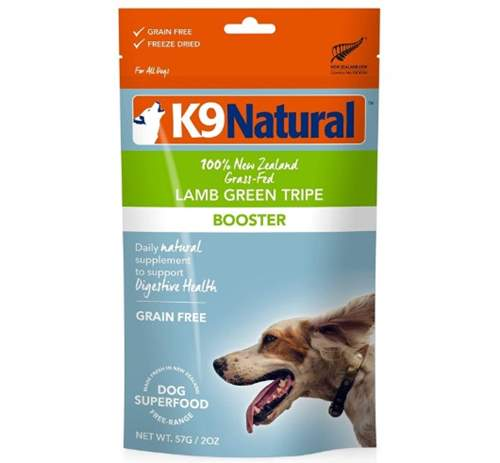 K9 Natural Freeze Dried Dog Food Booster and Topper – Lamb and Green Tripe