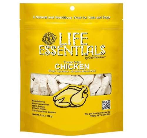 Life Essentials by Cat-Man-Doo All Natural Freeze Dried Chicken for Dogs & Cats
