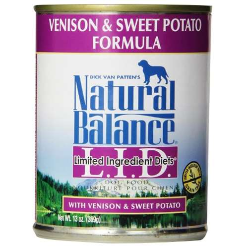 Natural Balance L.I.D. Limited Ingredient Diets Canned Wet Dog Food, Grain Free, Venison And Sweet Potato Formula