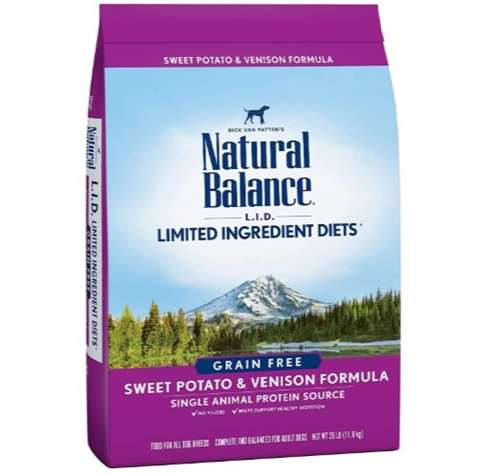 Natural Balance L.I.D. Limited Ingredient Diets Dry Dog Food, Grain Free Sweet Potato and Venison