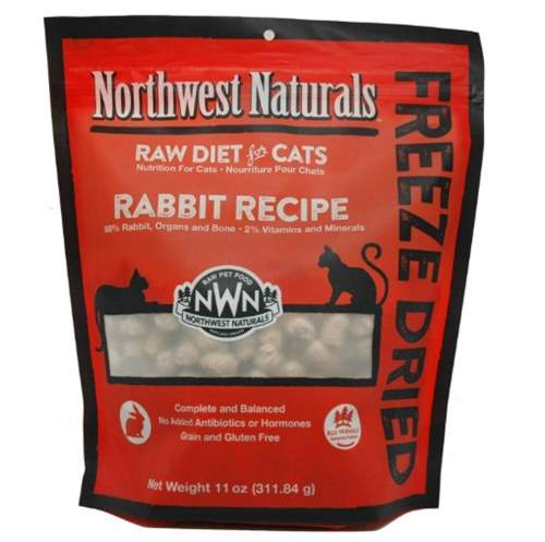 Northwest Naturals Freeze Dried Raw Cat Food Nibbles Rabbit Recipe