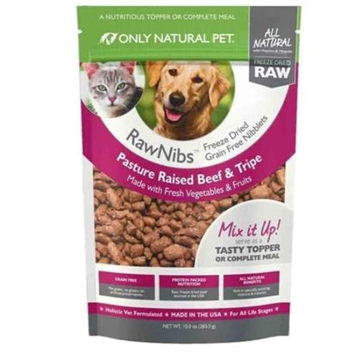 Only Natural Pet RawNibs Freeze Dried Food - Beef and Tripe
