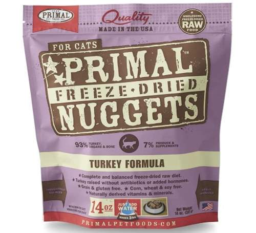 Primal Freeze Dried Cat Food Turkey Formula