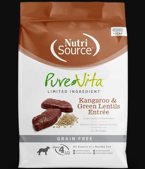 Pure Vita kangaroo and lentil dog food