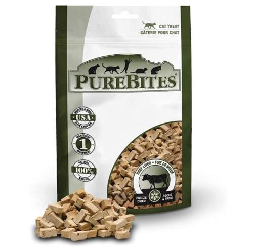 PureBites Beef Liver Freeze-Dried Raw Cat Treats – Entry size