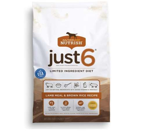 Rachael Ray Nutrish Just 6 Natural Premium Dry Dog Food, Limited Ingredient Diet