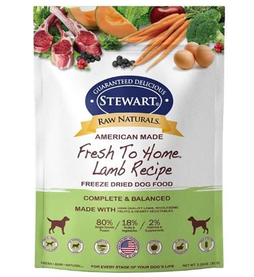 Stewart Raw Naturals Freeze Dried Dog Food Grain Free - Lamb Recipe