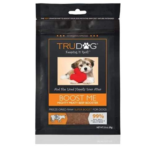 TruDog All Natural Dog Food Enhancer - Boost Me Mighty Meaty Beef Booster