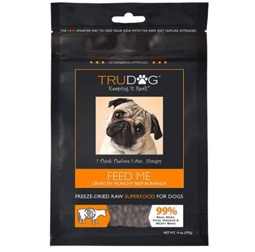 TruDog Feed Me Crunchy Munchy Beef Bonanza Grain-Free Raw Freeze-Dried Dog Food
