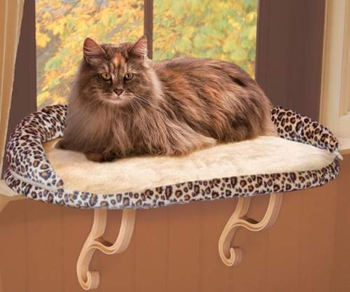 K&H Pet Products Deluxe Kitty Sill Perch with Bolster