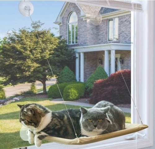 NOYAL Cat Resting Seat Perch Window Hammock Cats Kitty Safety Bed with Durable Heavy Duty Suction Cups Cat Bed