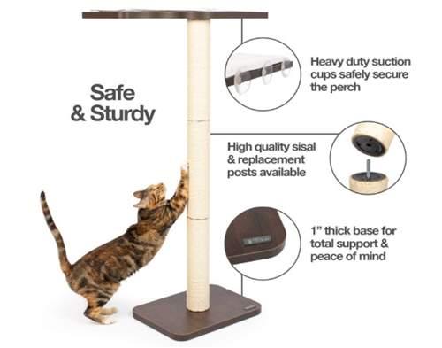 PetFusion Ultimate Cat Window Climbing Perch